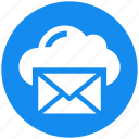 cloud, data, email, envelope, mail, message icon