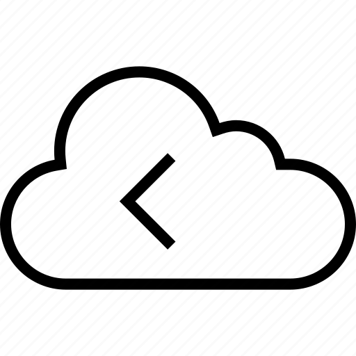 back, cloud, data, rewind, server icon