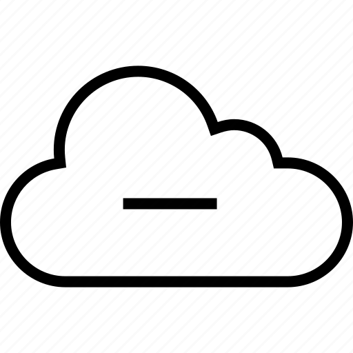 cloud, data, negative, server, sign icon