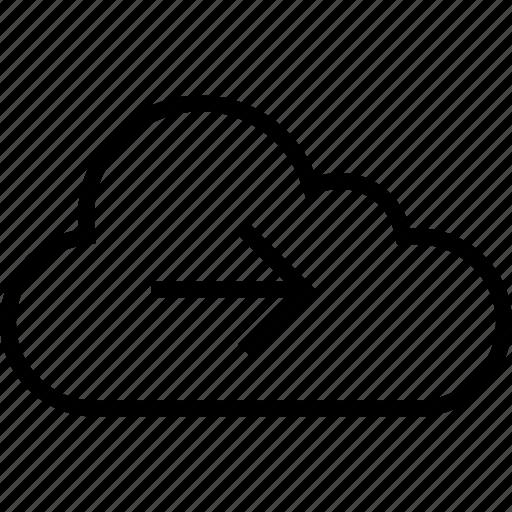 cloud, data, forward, go, next, point, server icon