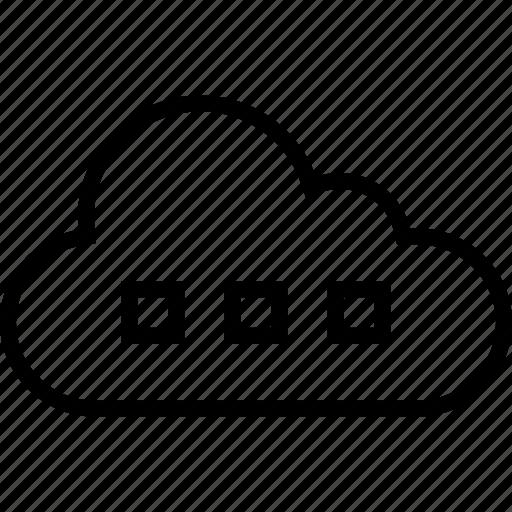 cloud, data, loading, server icon