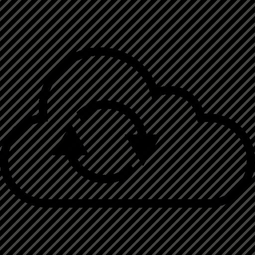 cloud, data, loop, server icon