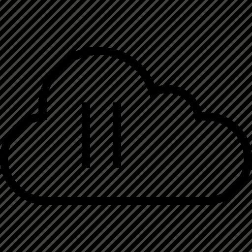 cloud, data, music, pause, server, stream icon