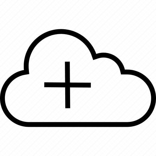 add, cloud, data, plus, server icon