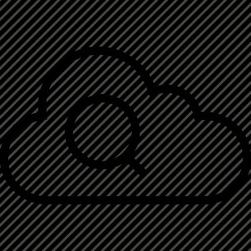 cloud, data, files, search, server icon