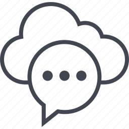 bubble, chat, cloud, data, sms, talk icon