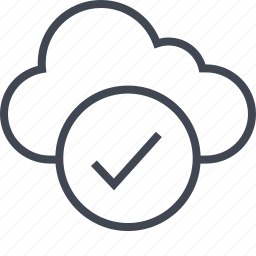 activity, check, cloud, mark, ok icon