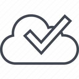 check, cloud, mark, ok, safe icon