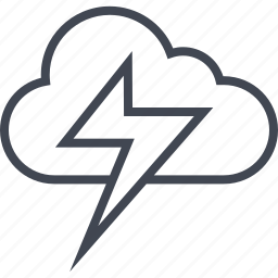 activity, cloud, lightining, power icon