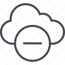 activity, cloud, line, negative, neutral icon