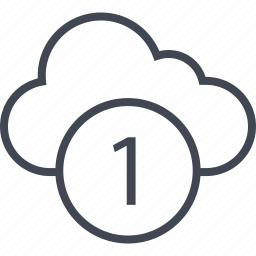 activity, cloud, number, one icon