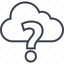 ask, cloud, mark, question icon