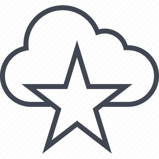 cloud, favorite, special, star, weather icon