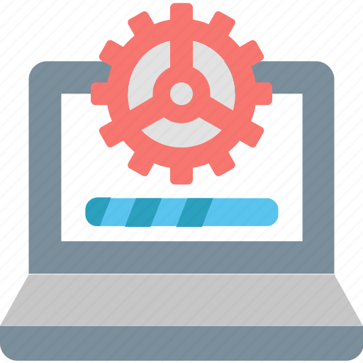 Data, processing, computer, gear, information, loading, technology icon - Download on Iconfinder