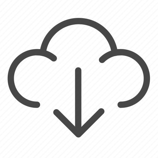 cloud, download, install, storage icon