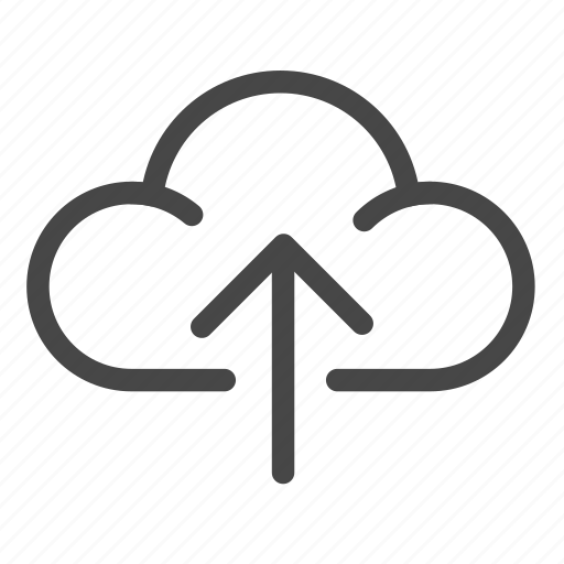 cloud, sent, share, sharing, upload icon