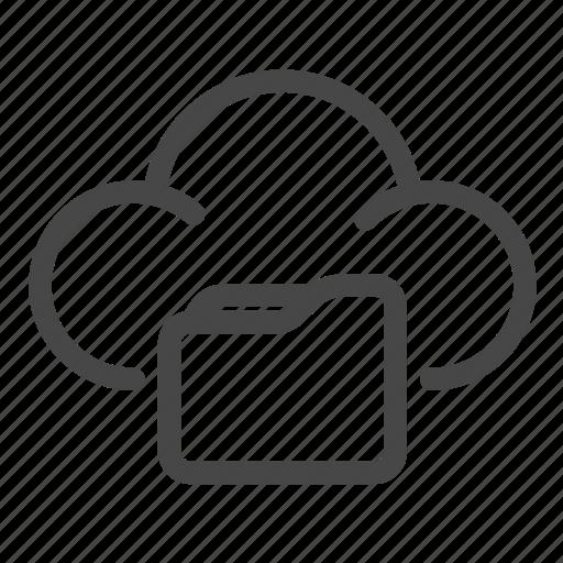 cloud, files, folder, shared, sharing icon