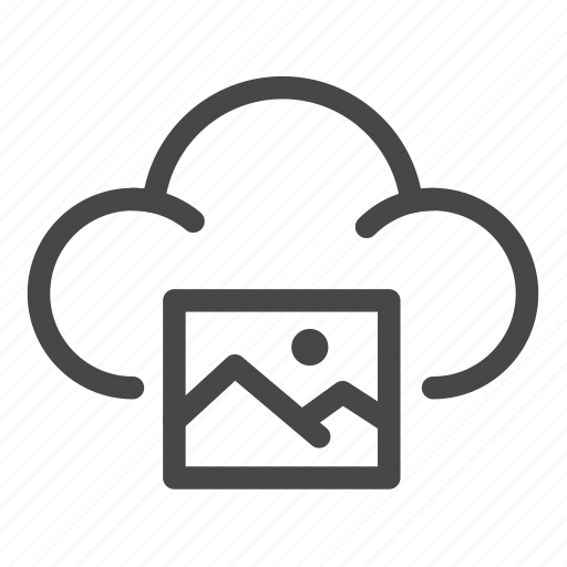 cloud, files, image, photo, picture, sharing, storage icon