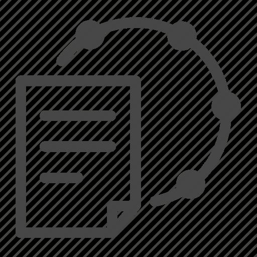 circle, cloud, file, loop, share icon