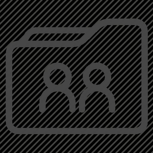 data, folder, share, shared folder, work icon