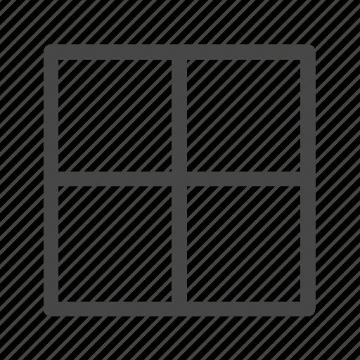 display, panel, view, window icon