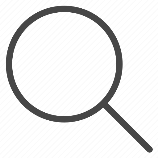 detect, find, magnifying glass, search icon