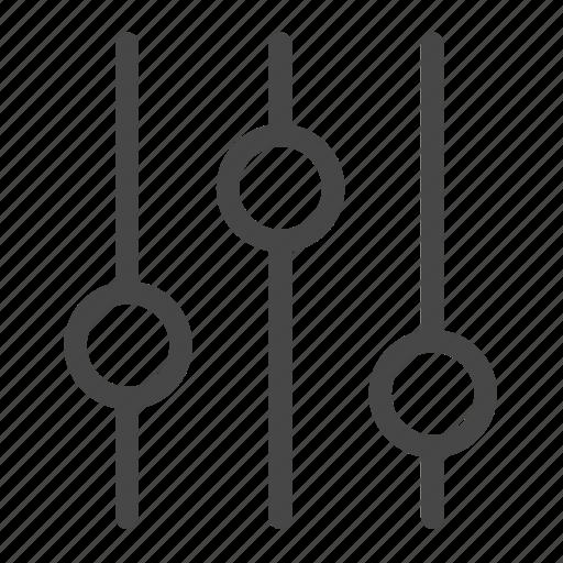 config, setting, slide, tools icon