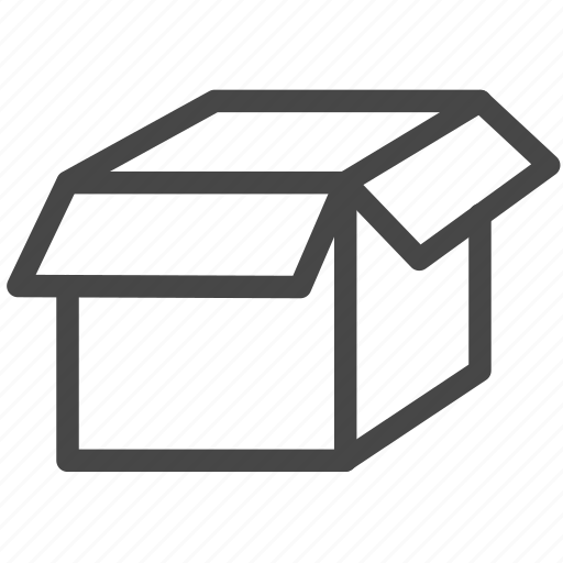 box, open, package, unpack icon