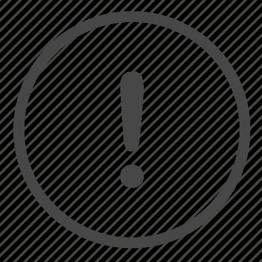 alert, caution, error, exclamation, notification icon