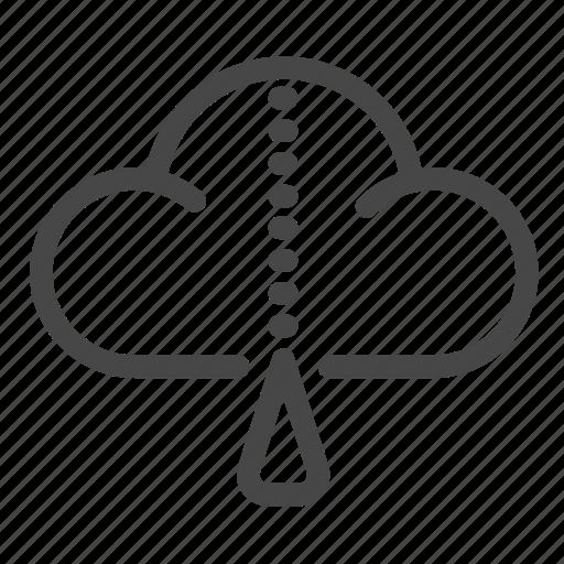 cloud, compress, file, secret, zip icon