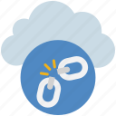 broke, chain, cloud, computing, disconnect, unlink, url