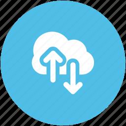 cloud computing, cloud hosting, download, information technology, upload, wireless communication, wireless internet icon