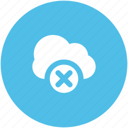 cloud delete, delete sign, disconnected network, disconnection, disconnectivity, icloud, icloud cancel icon