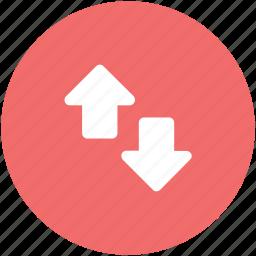 arrow pointing, arrows, arrows indication, down, hints, indicators, up arrow icon