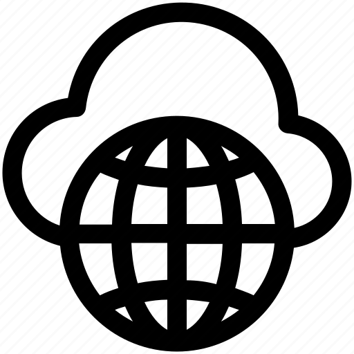 cloud computing, globe, globe grid, internet, internet connection icon