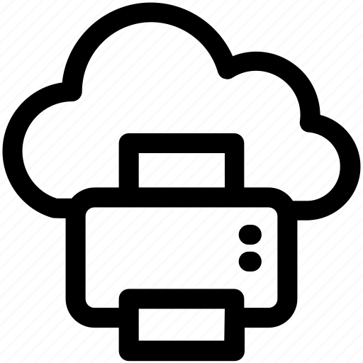 cloud printing, facsimile, online printing, printer, printing service icon