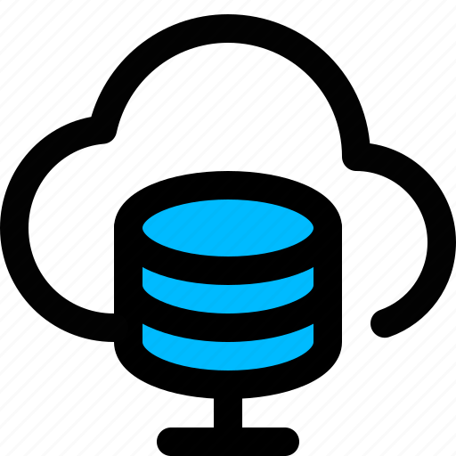 cloud, cloud database, hosting, server, storage icon