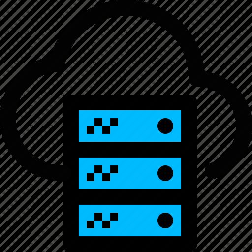 cloud, computing, hosting, server, storage icon
