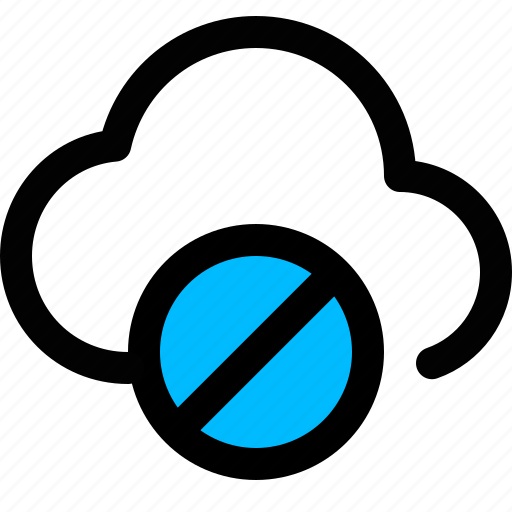 cloud, cloud blocked, prohibition, restricted icon