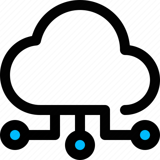 cloud, cloud network, computing, storage icon