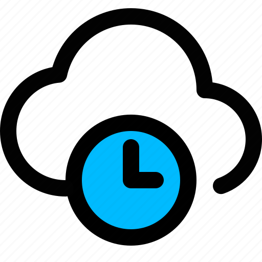 cloud, cloud wait, loading, waiting cloud icon