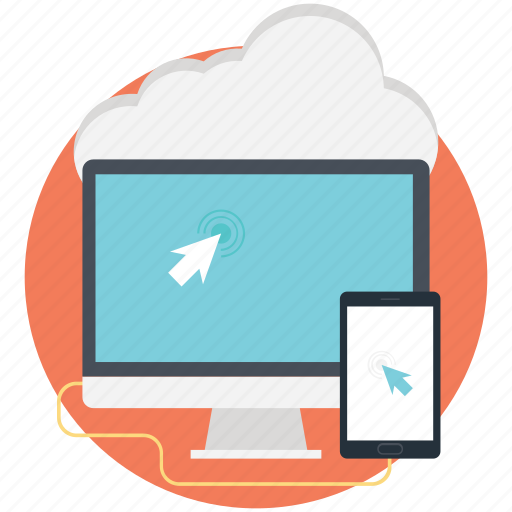 cloud computing, cloud storage, internet cloud, mobile, monitor icon