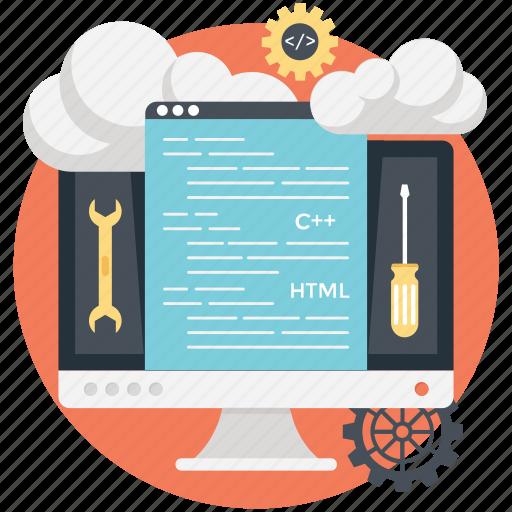 cloud computing php, cloud computing programming, cloud hosting, cloud php application, in demand cloud programming icon