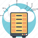 cloud backup, cloud server, cloud server hosting, cloud storage, software hosting icon