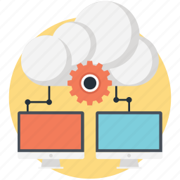 cloud, network, networking, setting icon