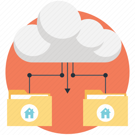 cloud folder, folders, sharing icon