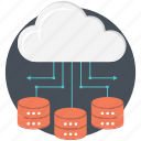 cloud network, database, networking, network, server icon