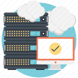 cloud network, connected, server, up to date icon