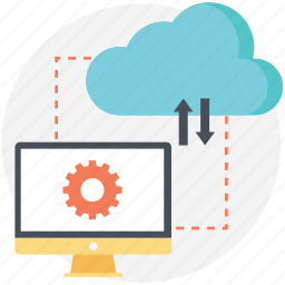 cloud, connectivity, downloading, setings, uploading icon
