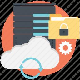locked, locked folder, secure, server, syncing icon